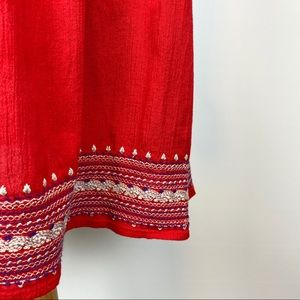 Old Navy Red Embroidered Skirt